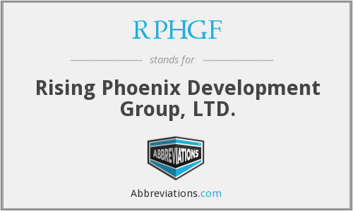 What does RPHGF stand for?
