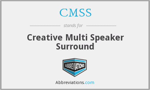 CMSS - Creative Multi Speaker Surround
