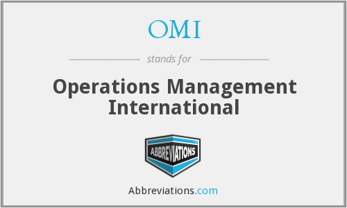 OMI - Operations Management International