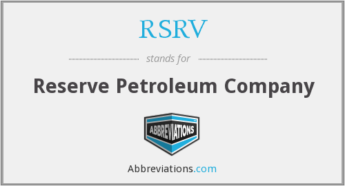 What does RSRV stand for?