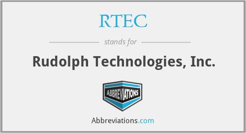 RTEC - Rudolph Technologies, Inc.