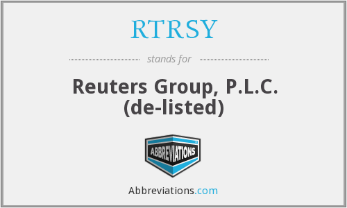 What does RTRSY stand for?