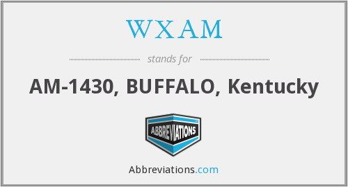WXAM - AM-1430, BUFFALO, Kentucky