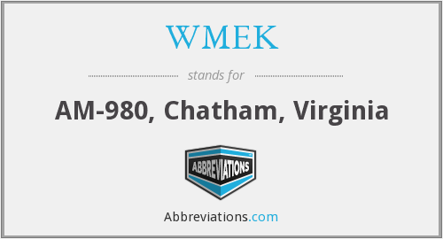 WMEK - AM-980, Chatham, Virginia