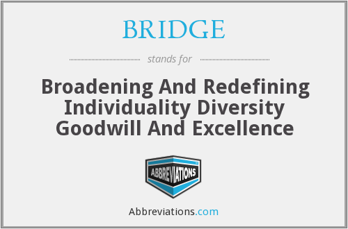 BRIDGE - Broadening And Redefining Individuality Diversity Goodwill And Excellence