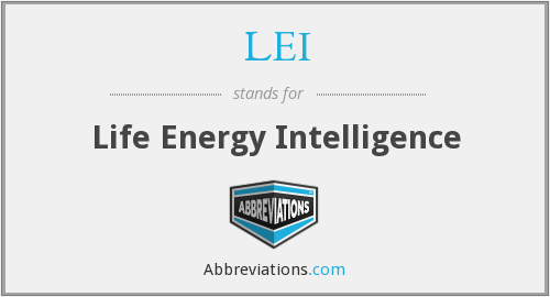 LEI - Life Energy Intelligence