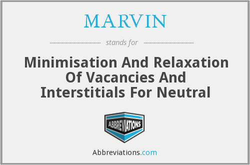 MARVIN - Minimisation And Relaxation Of Vacancies And Interstitials For Neutral