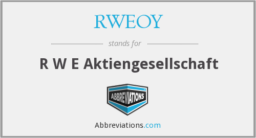 What does RWEOY stand for?