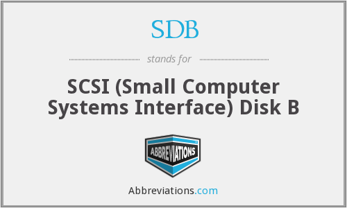 SDB - SCSI (Small Computer Systems Interface) Disk B