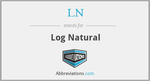 LN - Log Natural