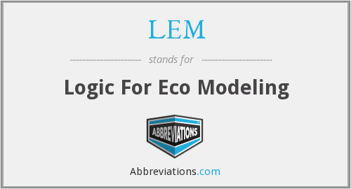 LEM - Logic For Eco Modeling