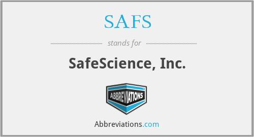 SAFS - SafeScience, Inc.