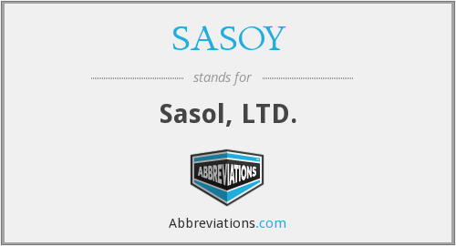 What does SASOY stand for?