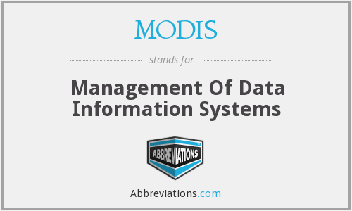 What does MODIS stand for?