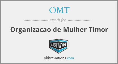 OMT - Organizacao de Mulher Timor