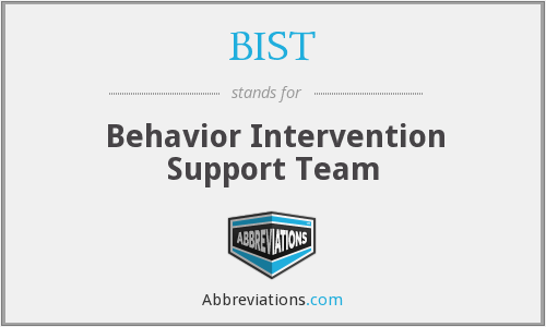 BIST - Behavior Intervention Support Team