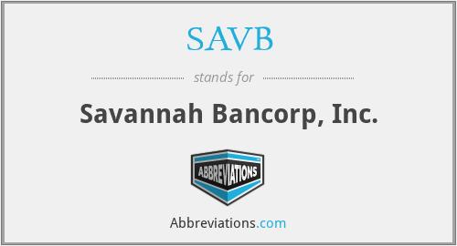 SAVB - Savannah Bancorp, Inc.