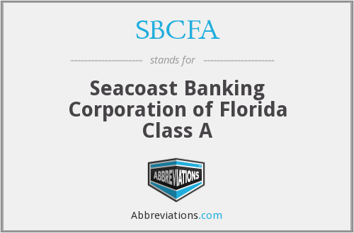 What does SBCFA stand for?