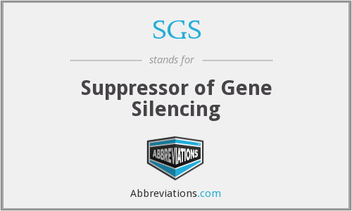SGS - Suppressor Of Gene Silencing