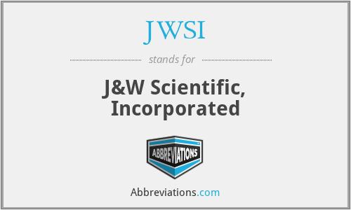 JWSI - J&W Scientific, Incorporated