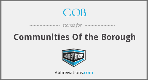COB - Communities Of the Borough