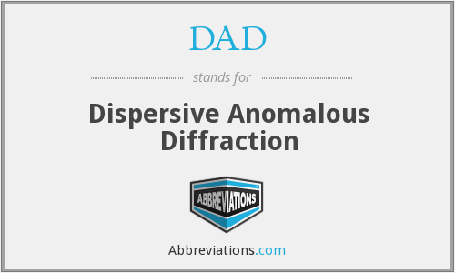 DAD - Dispersive Anomalous Diffraction