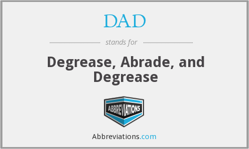 DAD - Degrease Abrade And Degrease