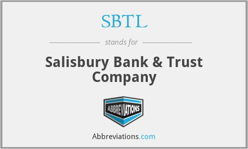 SBTL - Salisbury Bank & Trust Company