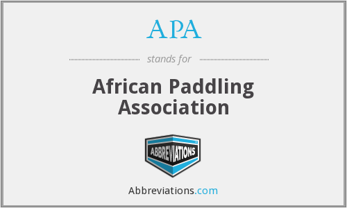 APA - African Paddling Association