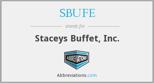 What does SBUFE stand for?