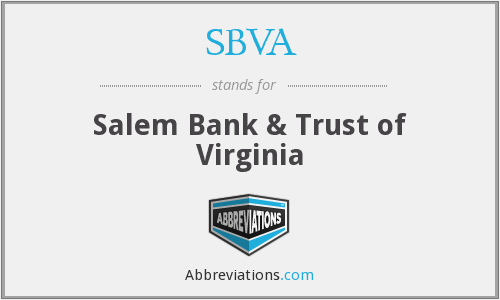 What does SBVA stand for?