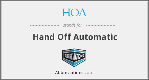 HOA - Hand Off Automatic