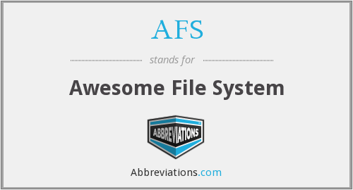AFS - Awesome File System