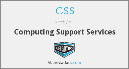 CSS - Computing Support Services