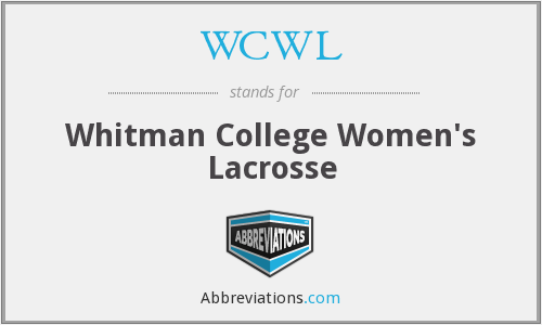 WCWL - Whitman College Women's Lacrosse