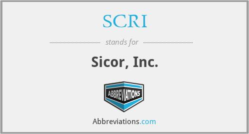 SCRI - Sicor, Inc.
