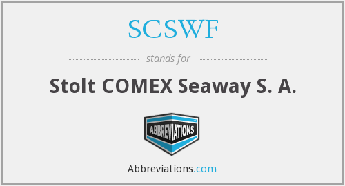 What does SCSWF stand for?