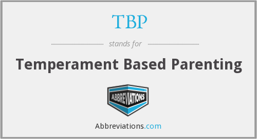 TBP - Temperament Based Parenting