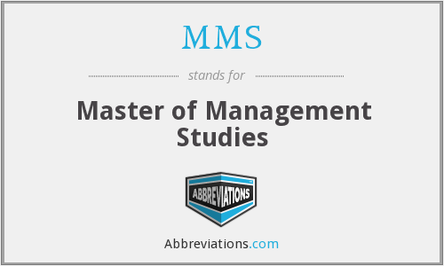 MMS - Master of Management Studies