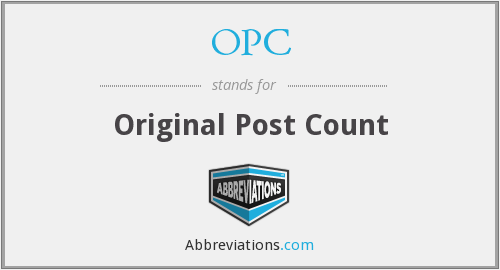 OPC - Original Post Count