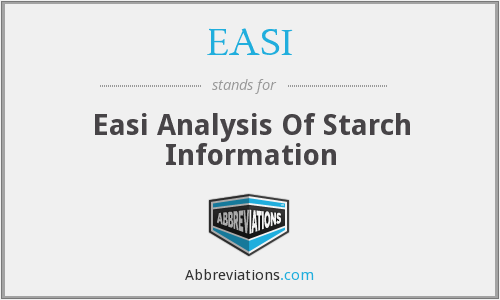 EASI - Easi Analysis Of Starch Information