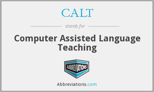 CALT - Computer Assisted Language Teaching