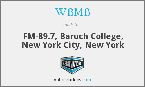 WBMB - FM-89.7, Baruch College, New York City, New York