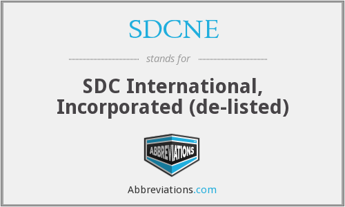 What does SDCNE stand for?