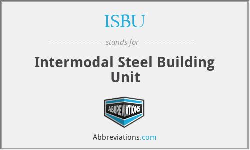 ISBU - Intermodal Steel Building Unit