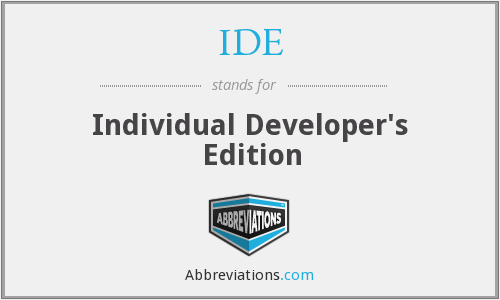 IDE - Individual Developer's Edition
