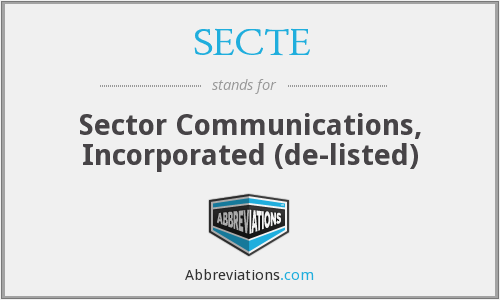 What does SECTE stand for?