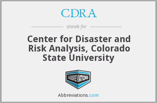 CDRA - Center for Disaster and Risk Analysis, Colorado State University