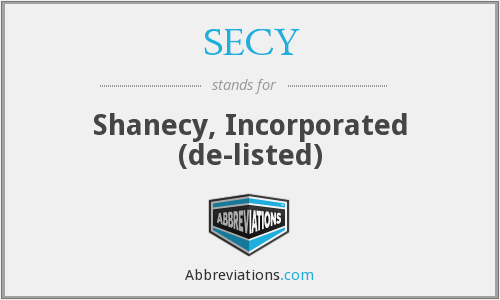 What does SECY stand for?
