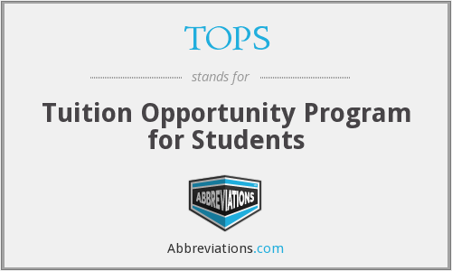 TOPS - Tuition Opportunity Program for Students